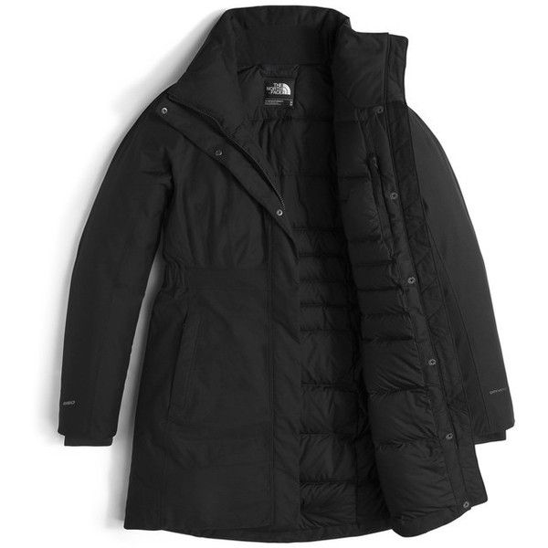 Women's The North Face Arctic Ii Waterproof 550-Fill-Power Down Parka... (380 CAD) ❤ liked on Polyvore featuring tnf black and the north face