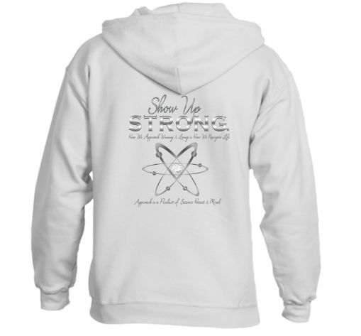 Hoodie Zip Front Sweatshirt / Sweater (unisex) Show Up Strong - Graphite