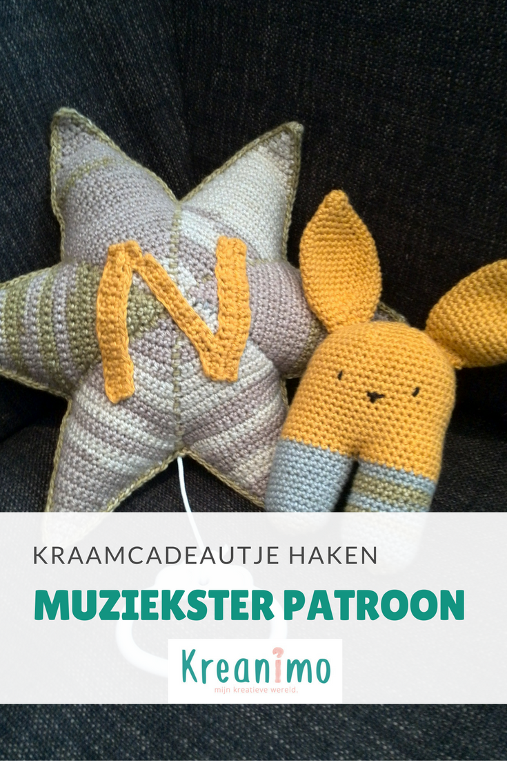 Knuffel Konijn Rammelaar En Muziekster Haken Patronen Pinterest