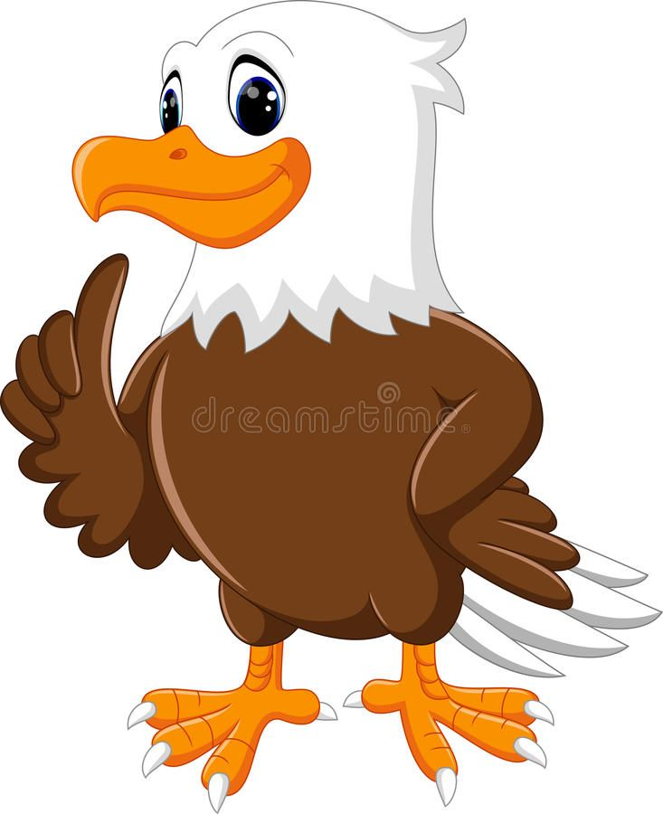 Download Cute Eagle Cartoon Stock Vector Image Of Cartoon Happy 73599738 Eagle Cartoon Cartoon Illustration Eagle Drawing
