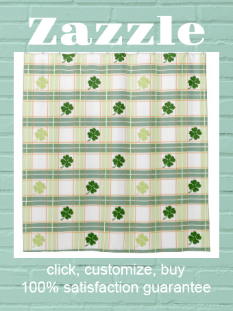 Irish Plaid Shamrock Shower Curtain Zazzle Com In 2020 Custom