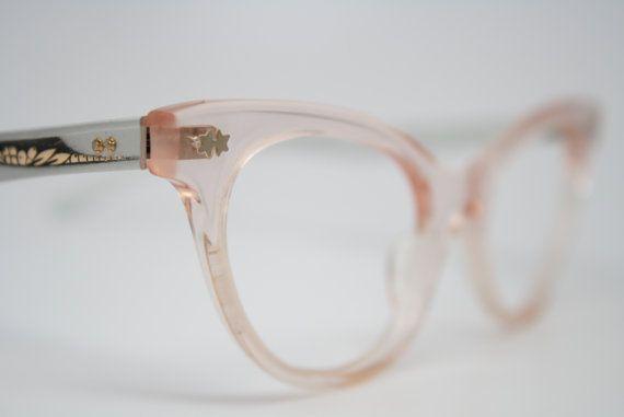 NOS Pink vintage cat eye glasses Victory cateye sunglasses eyeglasses
