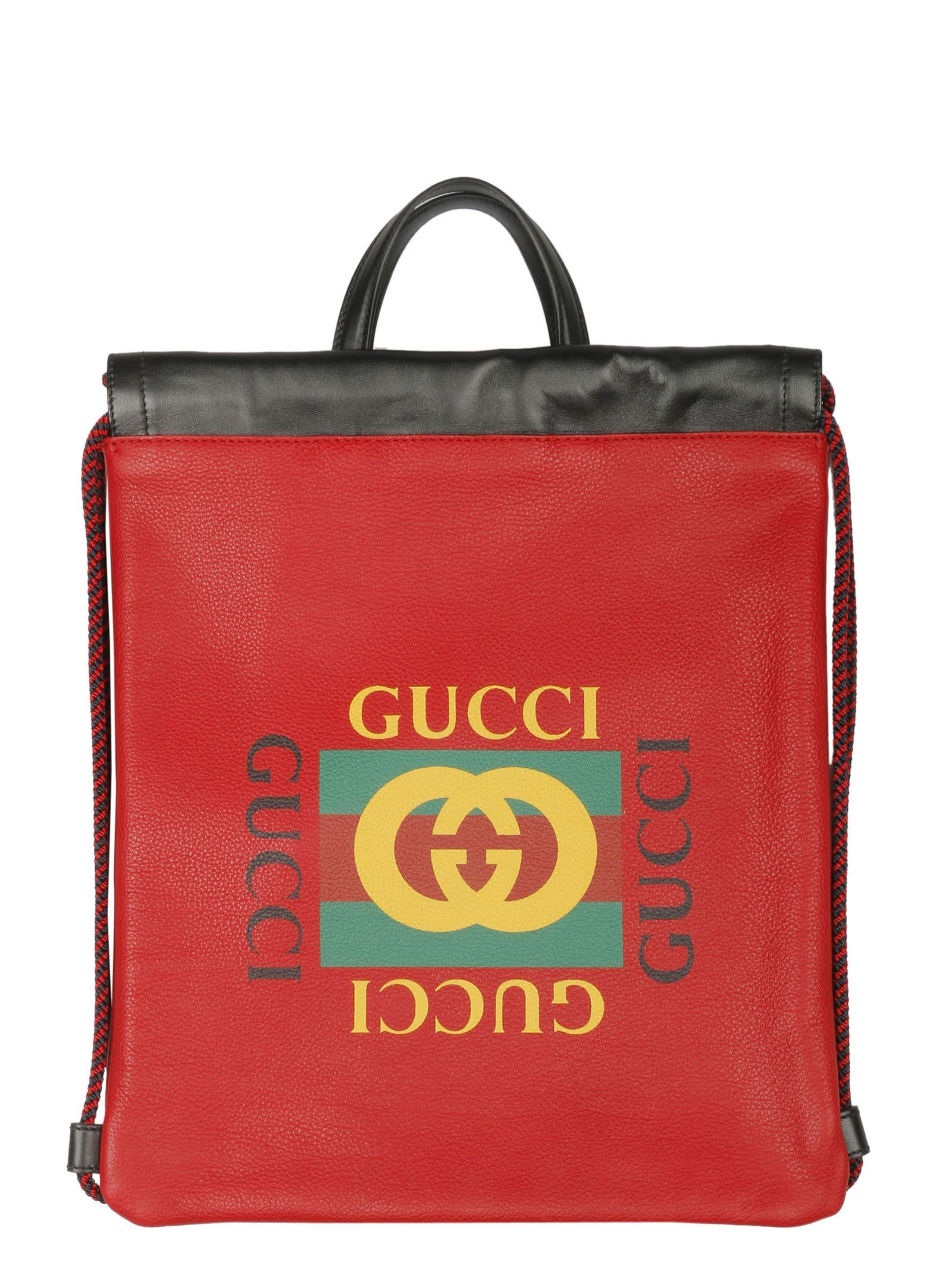 71ae4944da49 GUCCI SMALL DRAWSTRING BACKPACK.  gucci  bags  leather  backpacks ...