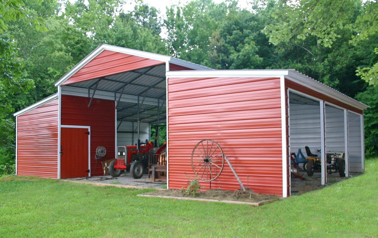 44 x 31 x 12 Vertical Barn Metal barn, Building a shed