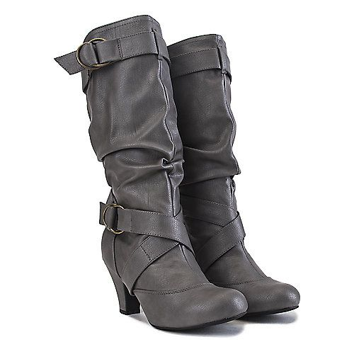 Buy Women's Low-Heel Pocket Boot Reggie-01P Grey Online. Find more women's riding, low-heel, and pocket boots at ShiekhShoes.com.
