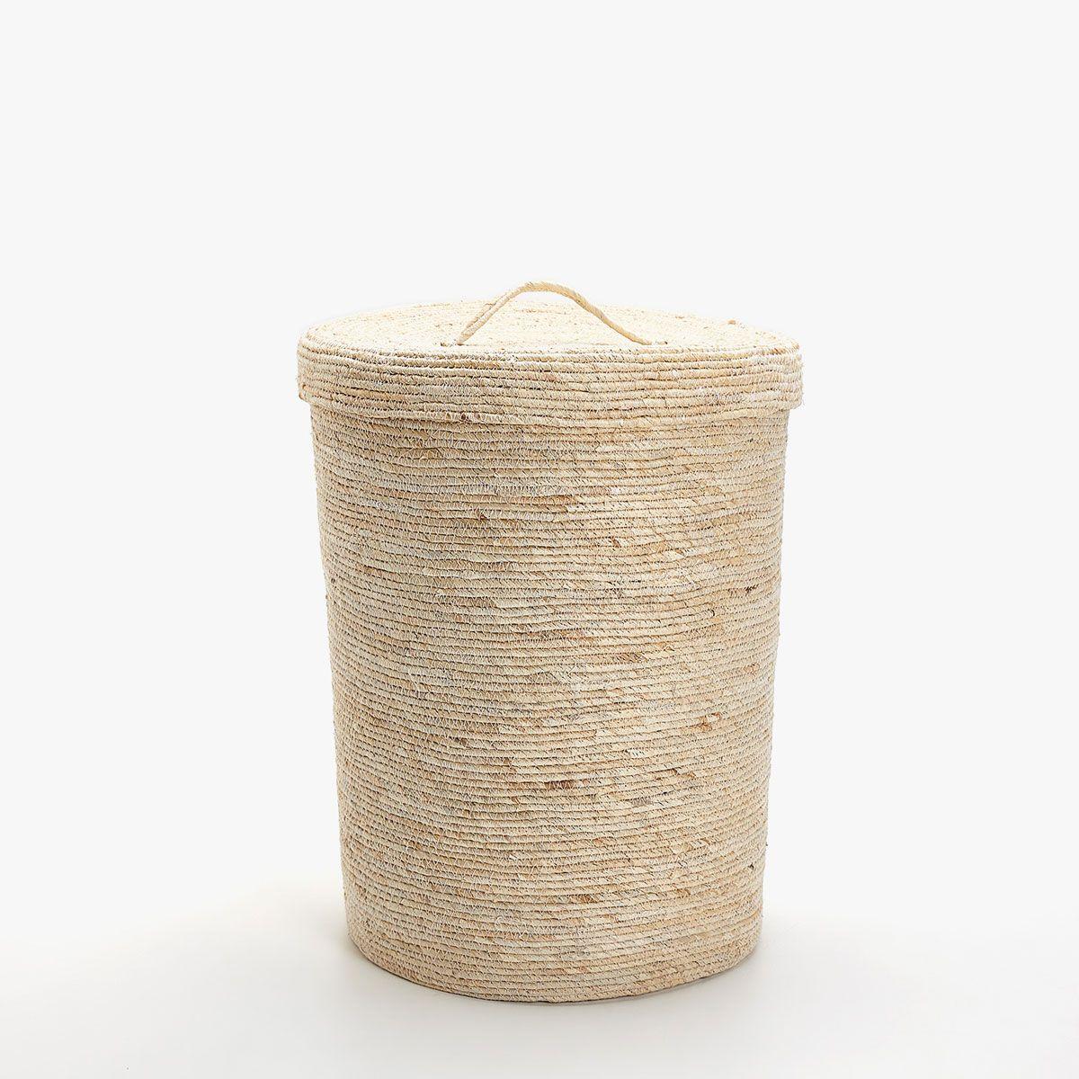 Imagen 1 Del Producto Cesta Ropa Color Natural Casa De Blanca  # Muebles Junco Santo Domingo