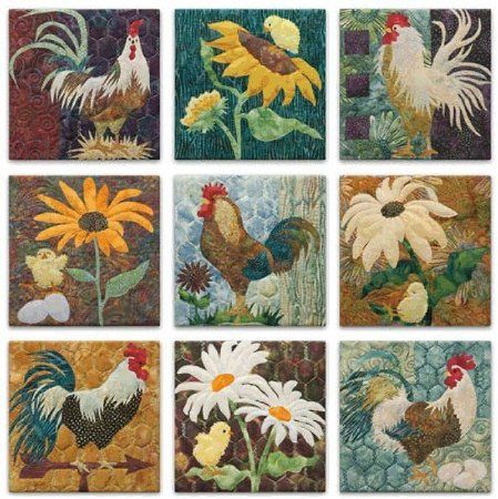 Rooster Quilt Chickins Pinterest Quilted Gifts