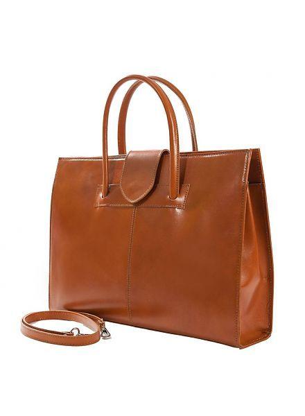 87519642c06 Carelli Italia Leren aktetas Palermo Oranje   briefcase