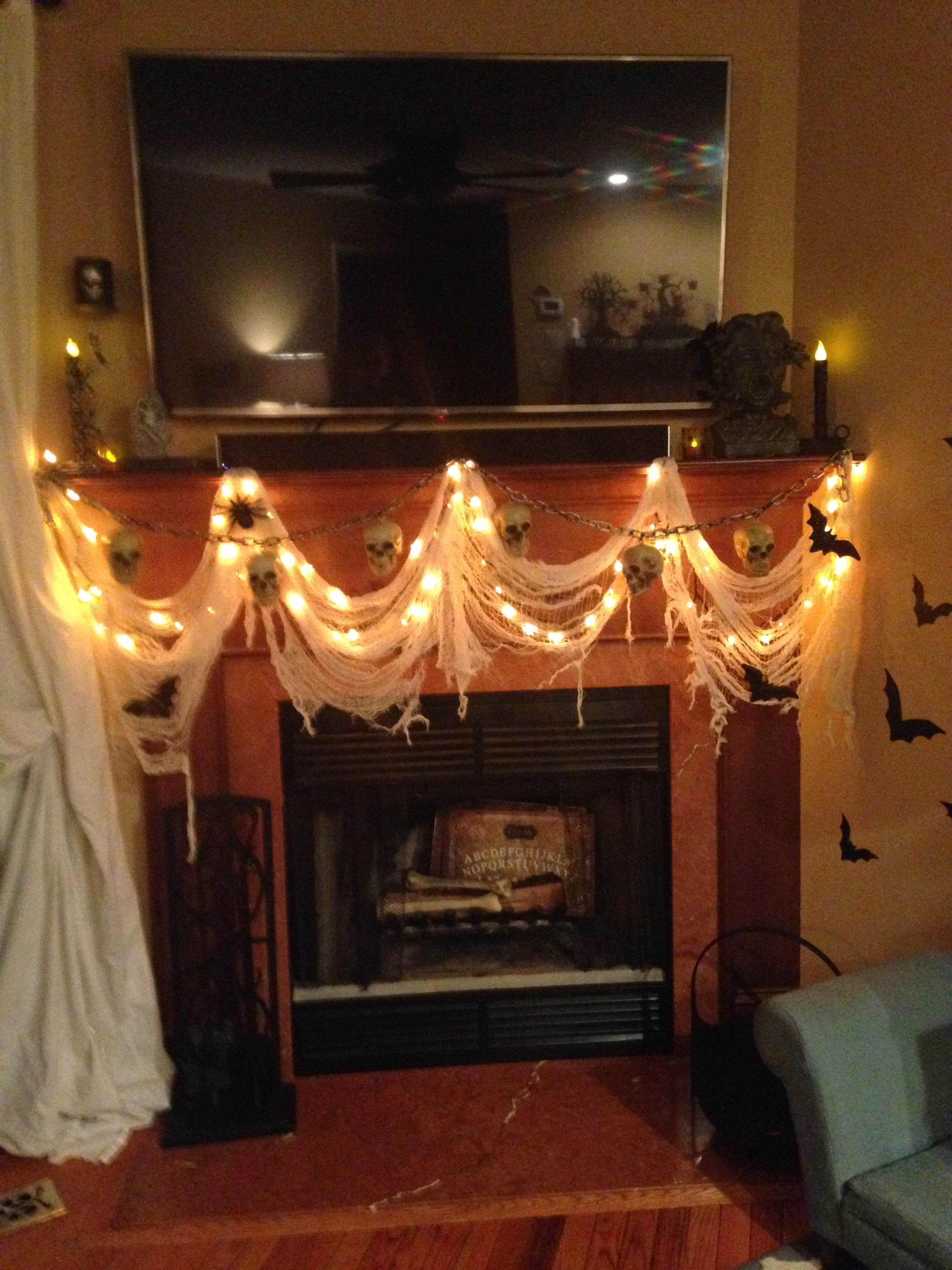 Halloween Fireplace Mantel Halloween Decorations 2016 Halloween Fireplace Fireplace Mantels Fireplace
