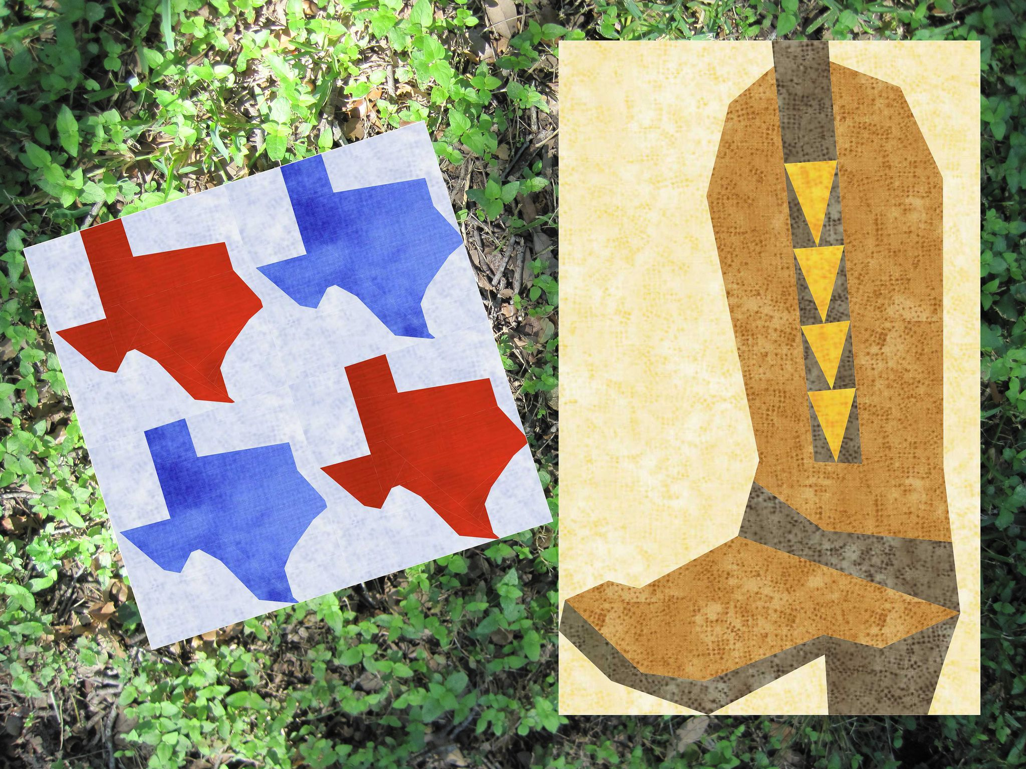 Texas Twofer Set 3 Paper Piecing Patterns Quilt