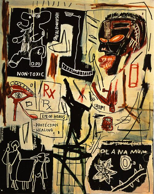 Jean-Michel Basquiat  Melting Point of Ice, 1984  acrylic and crayon on canvas, 218.5 x 172.5 cm