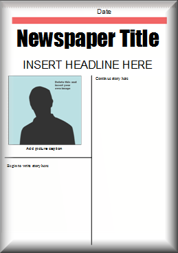 This Microsoft Word newspaper template could be used for your ...