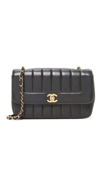 WHAT GOES AROUND COMES AROUND Chanel Vertical Flap Bag (Previously Owned).   whatgoesaroundcomesaround  bags  shoulder bags  leather   0ca39f051deae