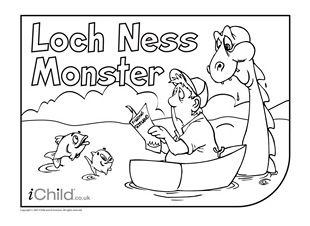 enjoy colouring in these activities with this activity you can colour colouring in picturesloch ness monsterrobert