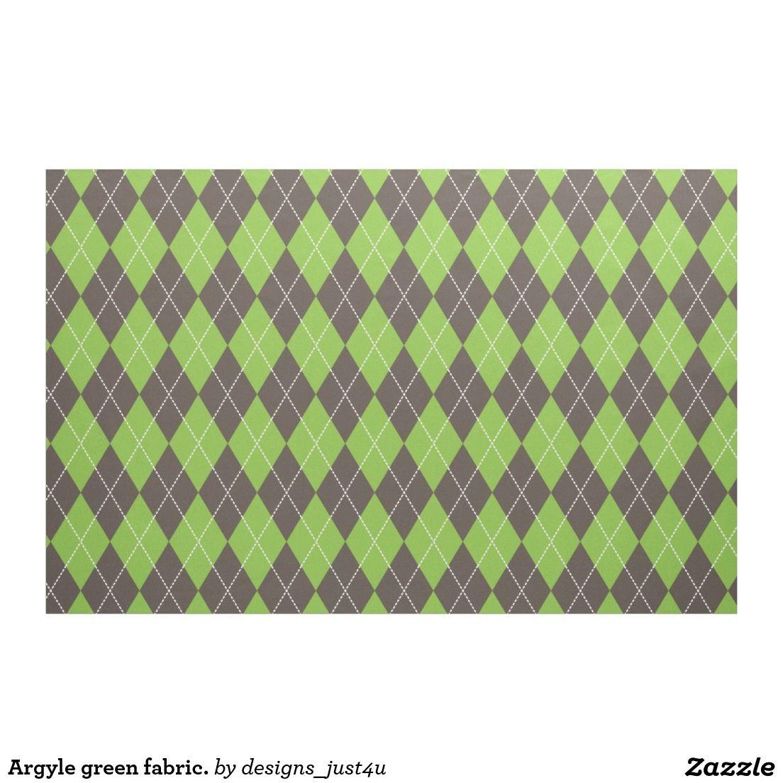 Argyle green fabric.