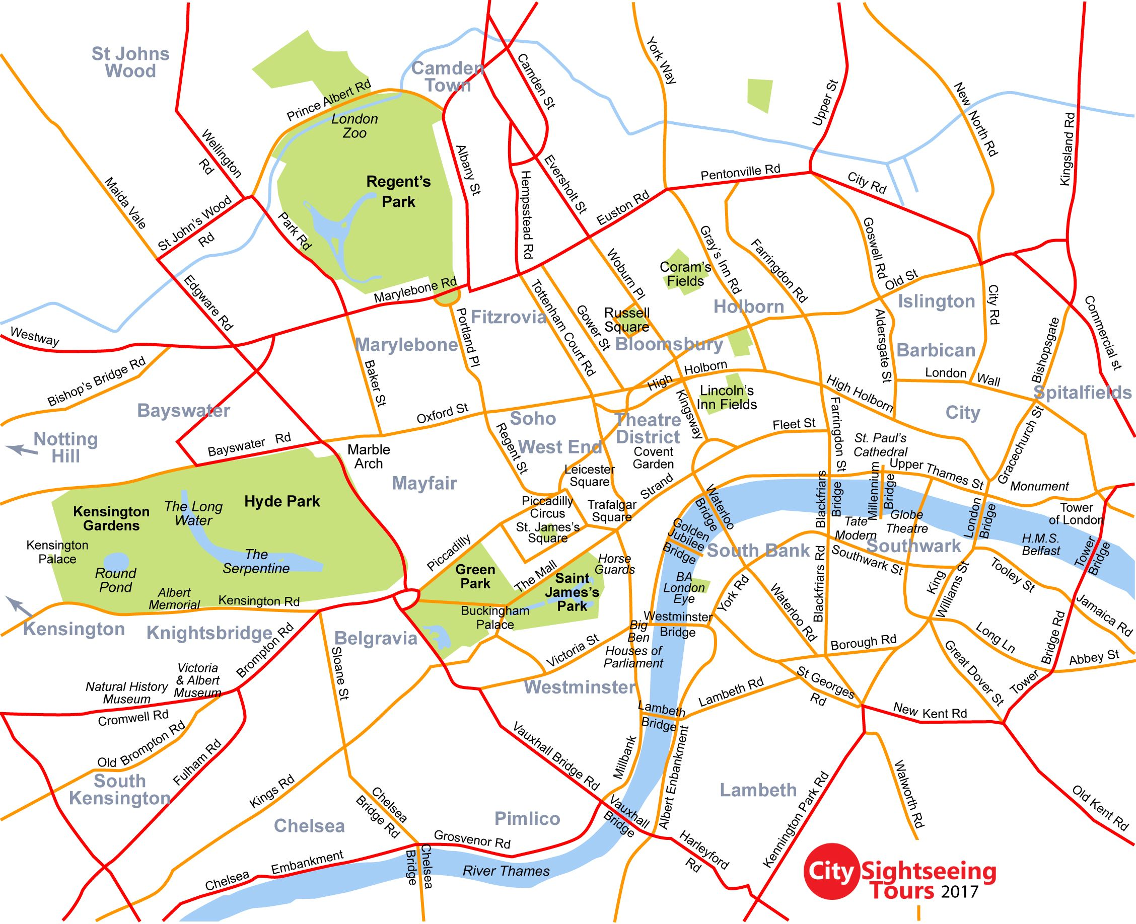 Map of London Neighborhoods   London Neighborhood map with list of