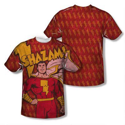 DC Comics Detective Comics Retro Captain Marvel Shazam Adult Front Print T-Shirt