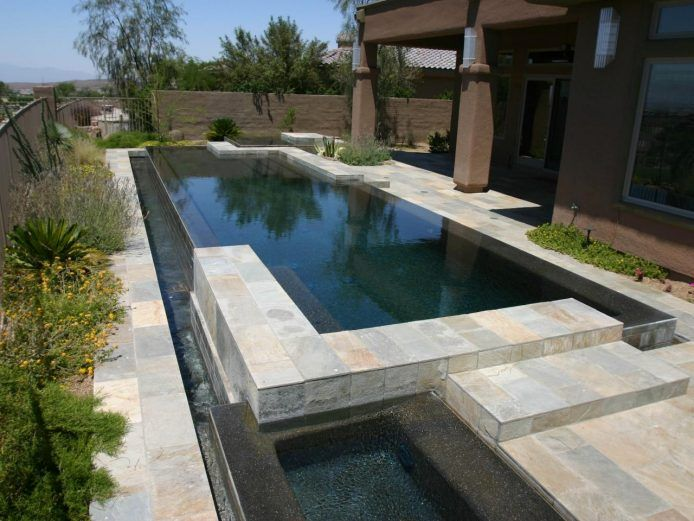 Simple Reflecting Pool Design With Ceramic Stone Modern Outdoor Living Pool Overflow Pool