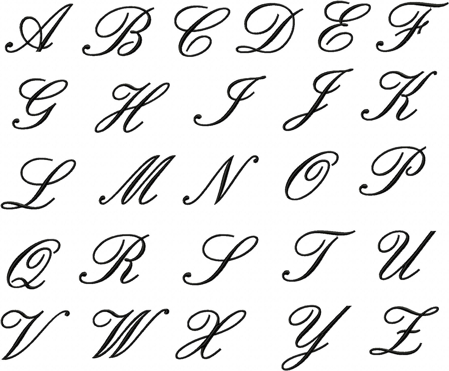 Embroidery Font Deal Part II 50 Machine Embroidery Fonts