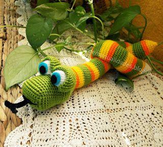 Como Acabar Con Las Viboras Serpiente Amigurumi Patrones Amigurumi Juguetes De Ganchillo
