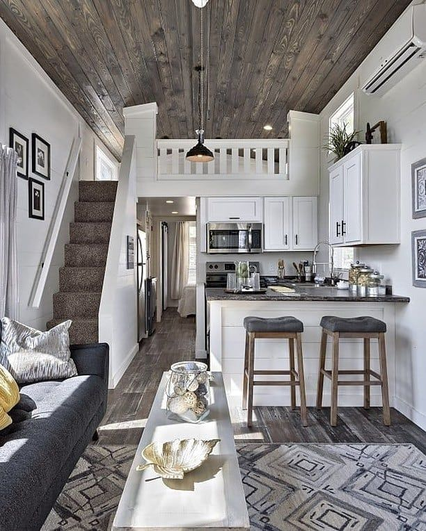Tiny House Hunter On Instagram We Are In Love With This Tiny House Interior What Do You Think Tiny House Interior Tiny House Loft Tiny House Living