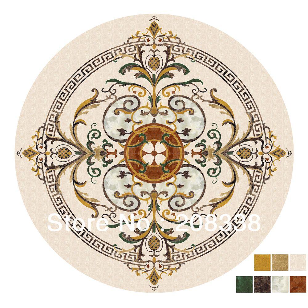 천연 대리석 메달리온, 워터 제트 대리석 상감 메달리온,. 럭셔리 바닥 디자인