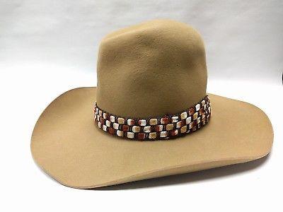 7d5ee17cece Resistol Shawnee Trail Stagecoach Cowboy Hat Sz 7 3 8 Felt Hat Puma Color  (Tan)
