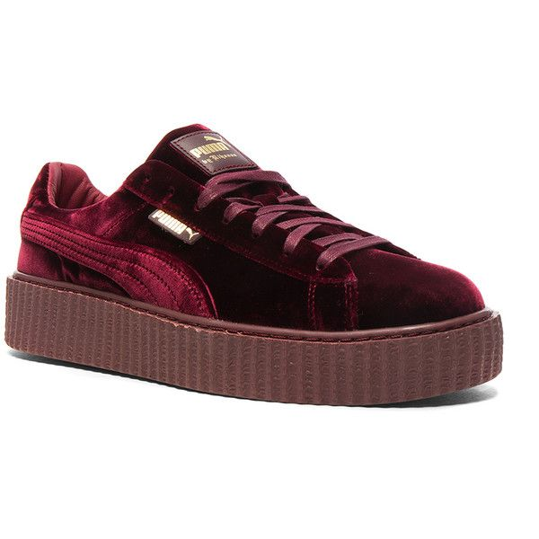 puma creeper rojo velvet quilts sneakeronline