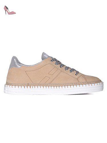 Chaussures baskets sneakers hautes femme en cuir r182 allacciato cinturino Hogan Rebel 7lzR3