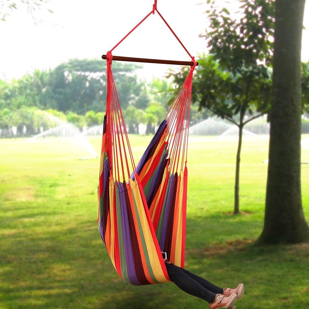 Hanging Hammock Chair Extra Large Outdoor Patio Porch Swing Leisure Seat 440lb Hammock Swing Chair Hanging Hammock Chair Hammock Chair