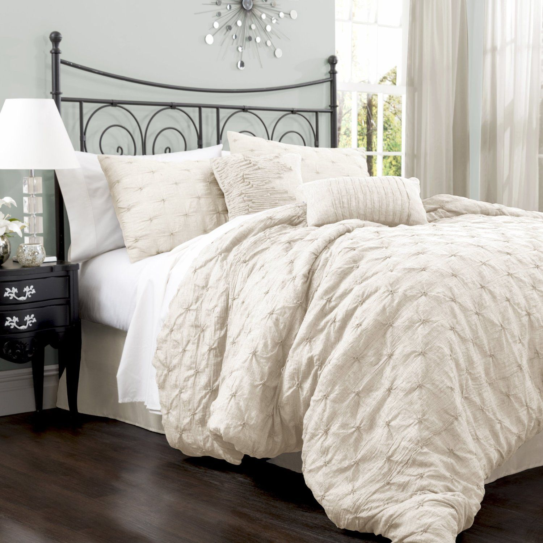 Amazon Com Lush Decor Lake Como 4 Piece Comforter Set King Taupe Comforters And Sets Comforter Sets Queen Size Comforter Sets King Size Comforter Sets