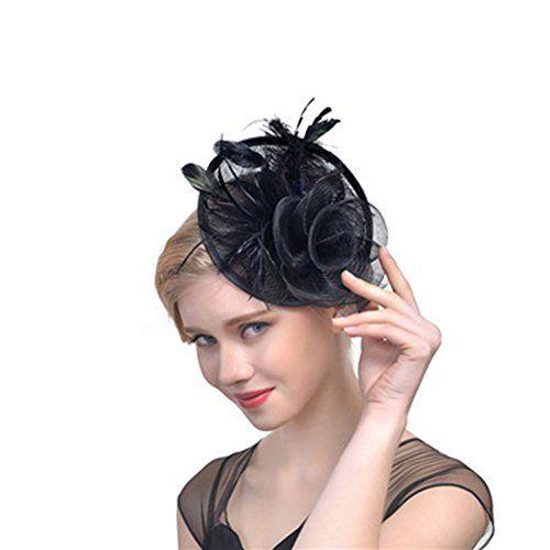 a34fbde1 RAGAN Bridal Fascinator Hat,Women's Party Wedding Cocktail Headwear Hats  Pillbox Hat Hair Clip Headband with Mesh Net Veil Feather