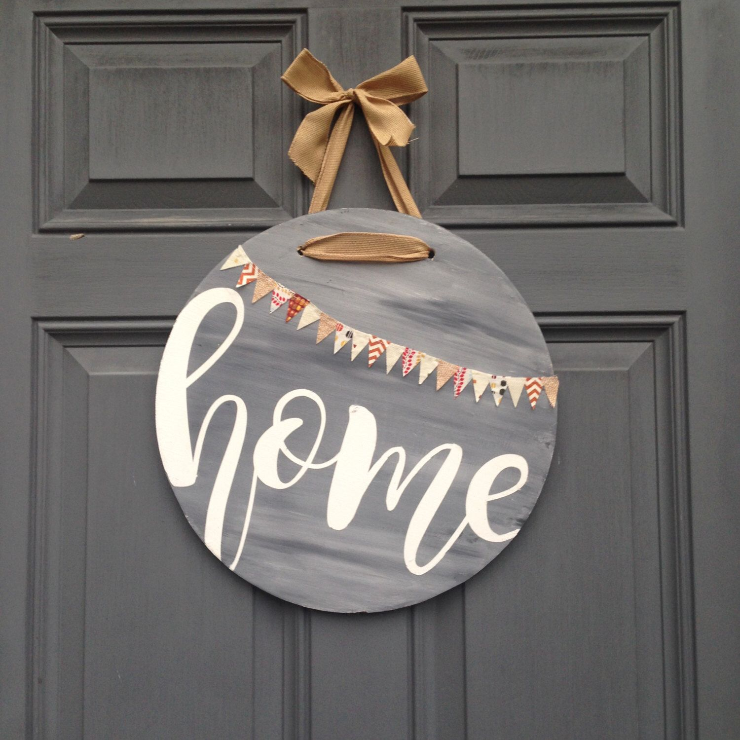 Brown Antique Wood Round Sign Hello Door Sign Hello Sign Rustic Front Door Decorative Round Wood Farmhouse Porch Decoration Home