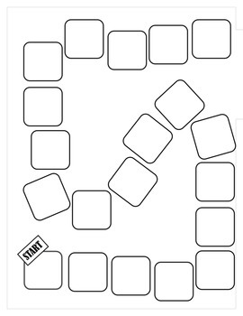 Game Board Template By 4 C S 4 Learning Teachers Pay Teachers Board Game Template Board Games Templates