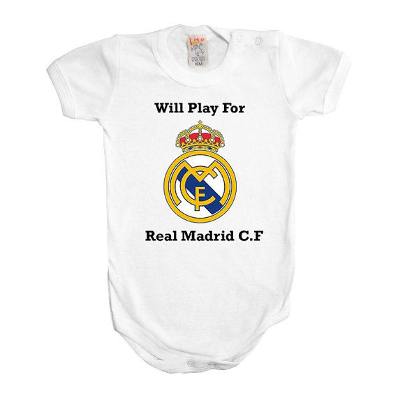Will Play For Real Madrid Football Soccer Baby Real
