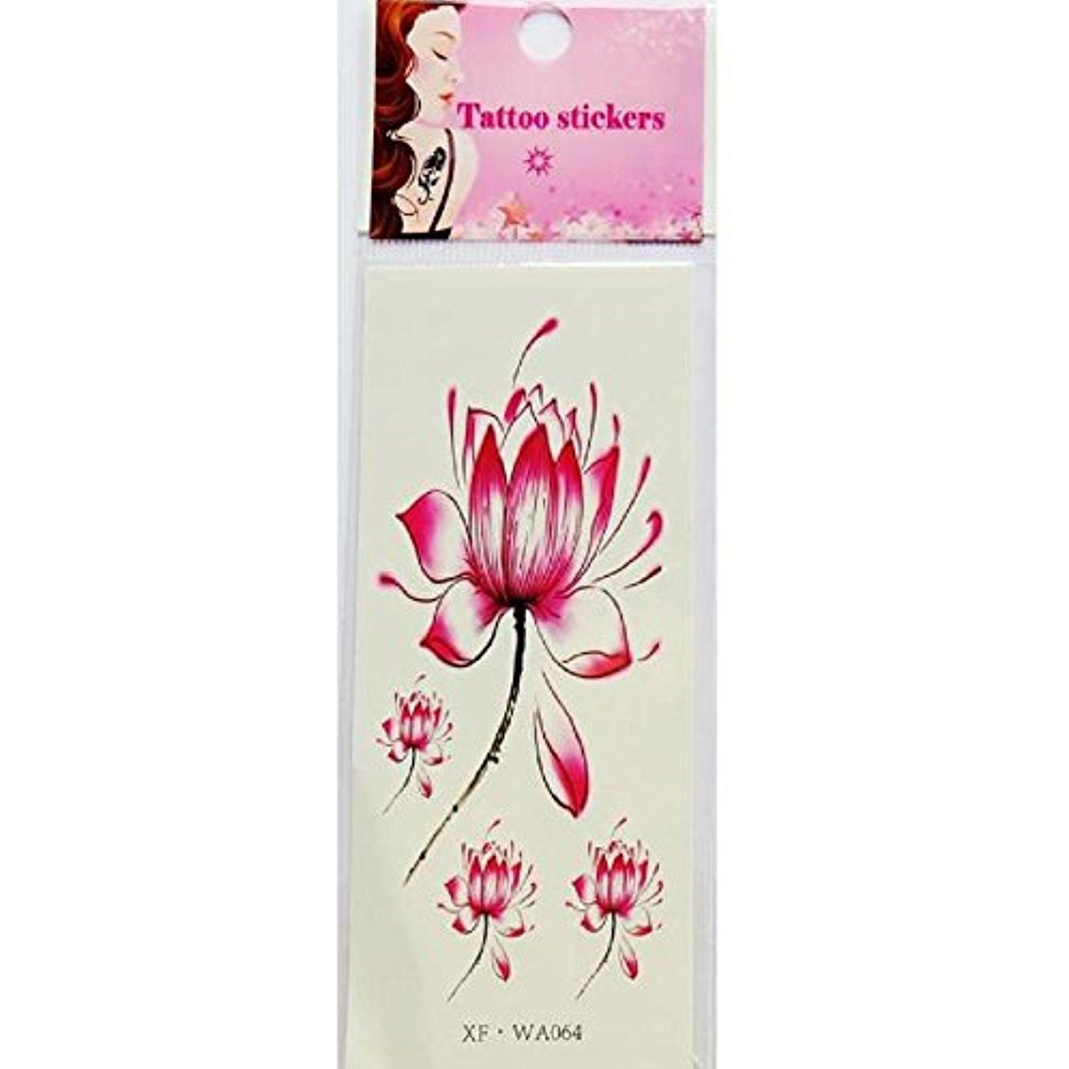 Body Art Sticker, FTXJ Waterproof Temporary Tattoos Lotus Flower Fake Tattoos *** Continue to the product at the image link. (This is an affiliate link) #Makeup