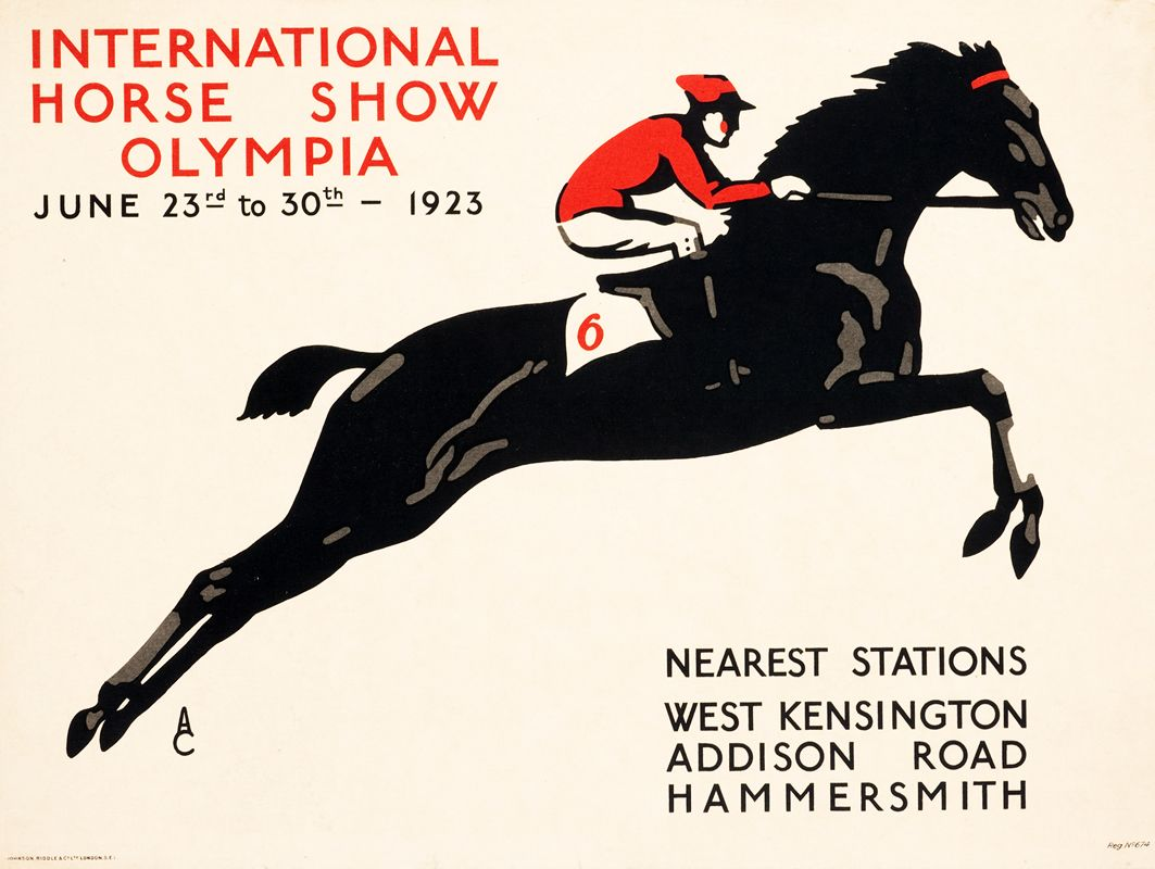1930 Olympia International Horse Show  Poster  A3 Reprint
