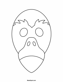 Printable Flamingo Mask To Color Costume Party Masks Templates