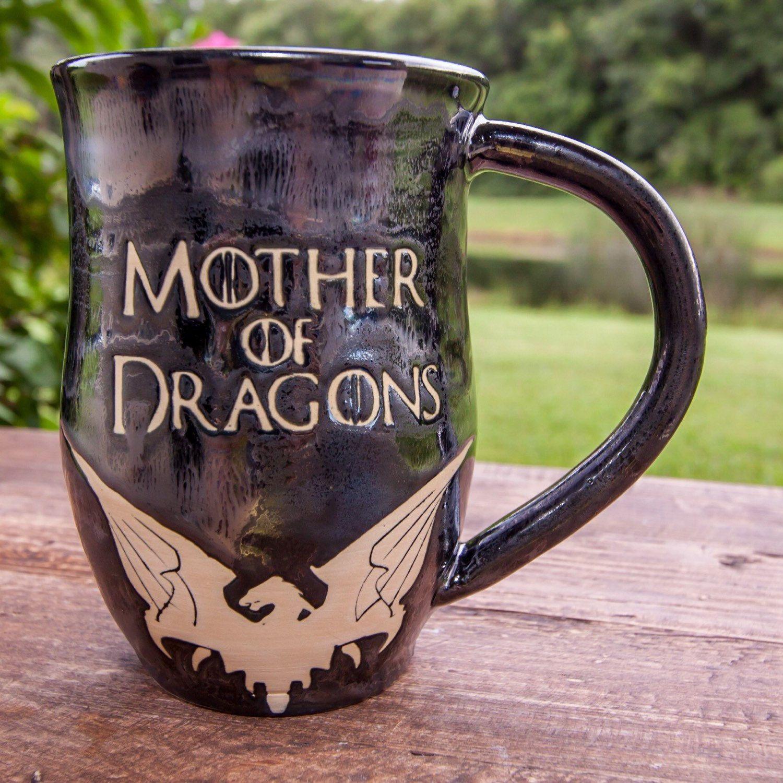 Mother Of Dragons Mug Handmade Pottery Mug Etsy Game Of Thrones Gifts Mugs Mother Of Dragons