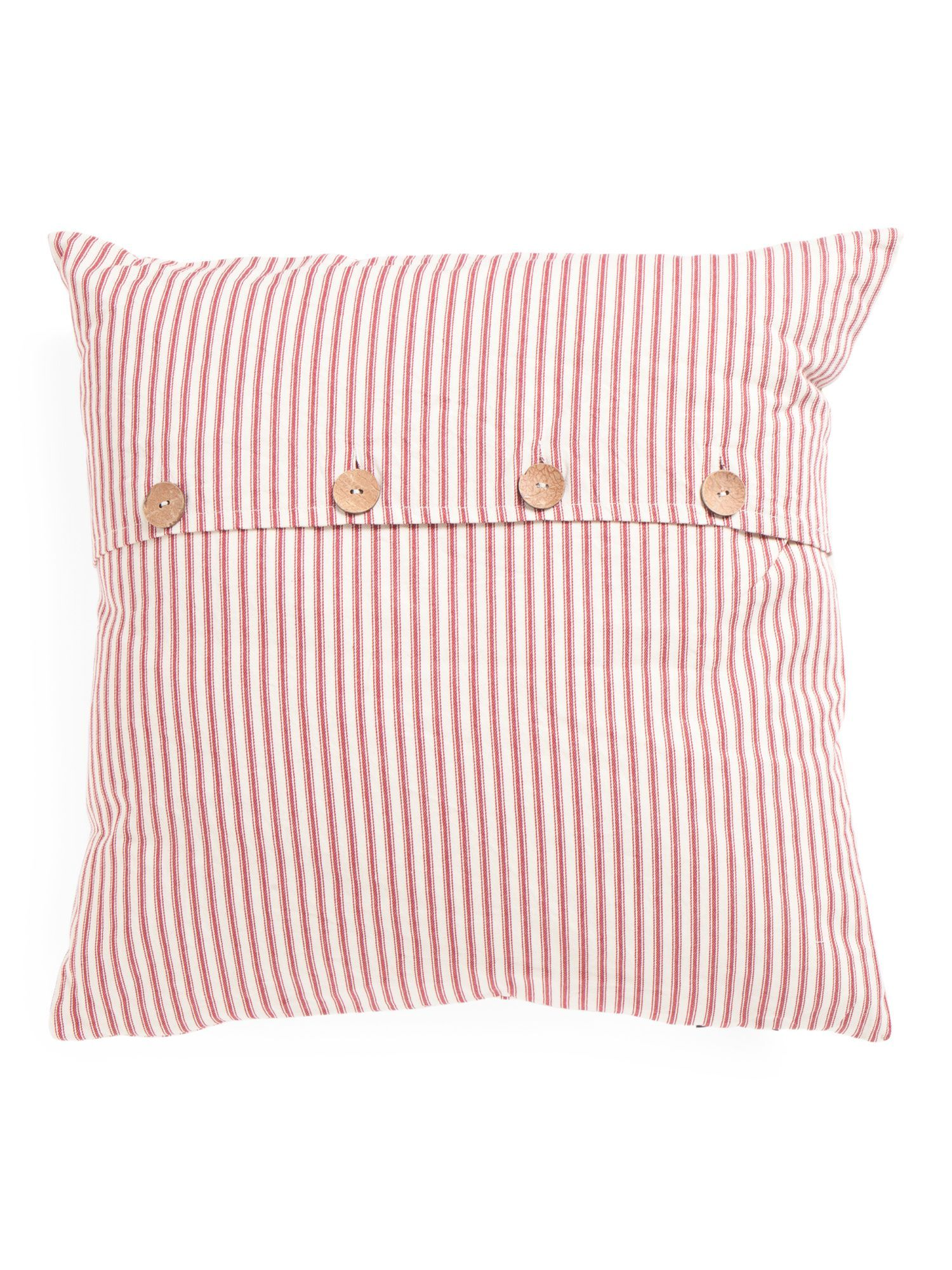 Made In India 20x20 Woven Pillow Pillows, Red pillows