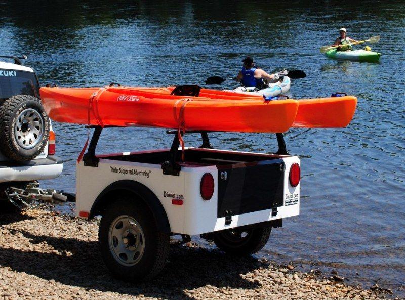 Dinoot Setup As A Kayak Trailer