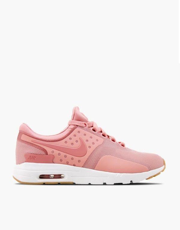 nike air max zero pink and white