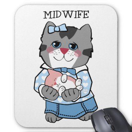 #nurse - #Midwife Cat Mouse Pad
