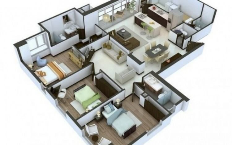 Design Your Own House Layout Online Free House Floor Design 3d House Plans House Layouts