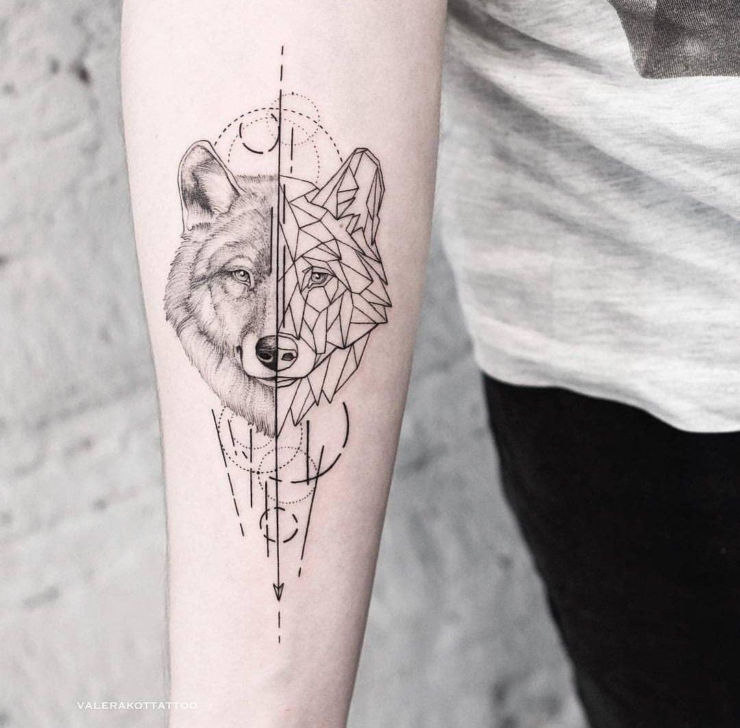 Geometric Wolf Geometric Wolf Tattoo Tattoos Forearm Tattoos