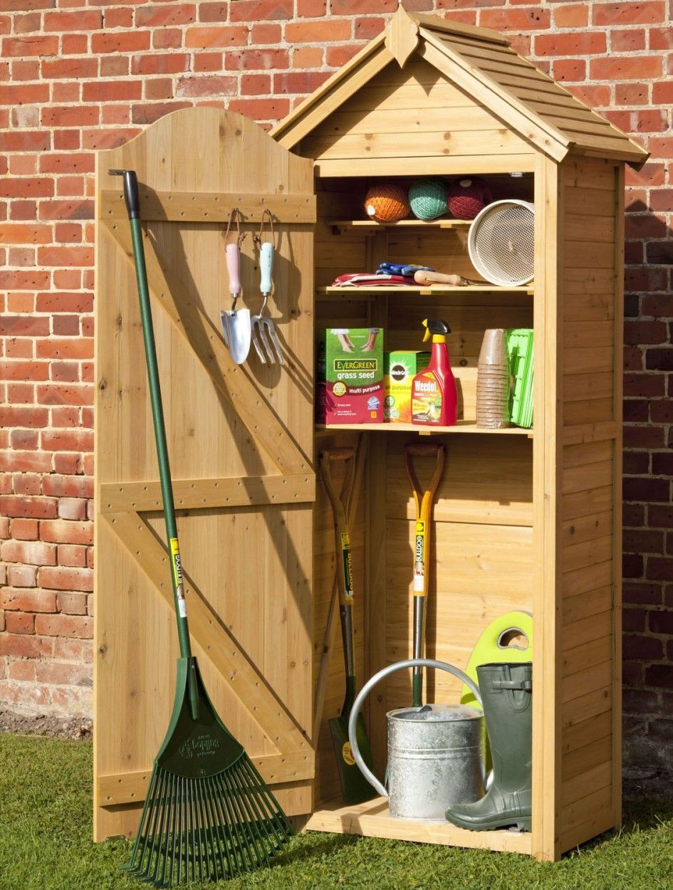 Enthralling Wood Garden Storage Cabinet from Knotty Pine Wood Planks ...