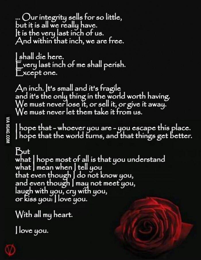 V for Vendetta V for vendetta, Quotes deep, Favorite quotes