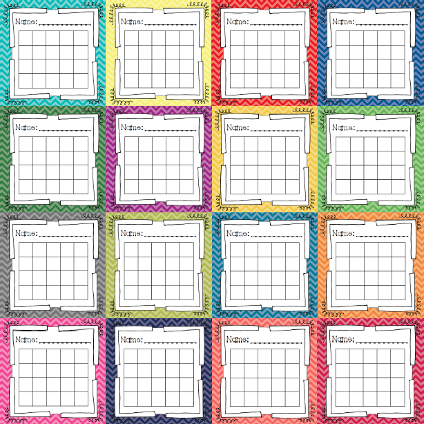 Classroom Incentive Ideas ~ Freebie chevron style incentive charts ideal for whole