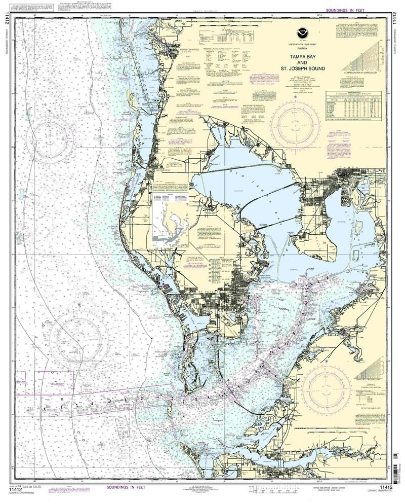 nautical map of tampa tampa bay and st joseph sound nautical map chart image misc. Black Bedroom Furniture Sets. Home Design Ideas