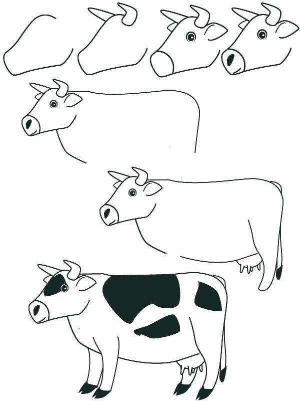 Animales Dibujar Facil Como Dibujar Un Vaca Paso A Paso Facilmente